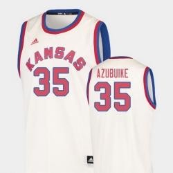 Men Kansas Jayhawks Udoka Azubuike Cream Hardwood Classics College Basketball Jersey