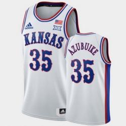 Men Kansas Jayhawks Udoka Azubuike White 1990S Throwback Jersey