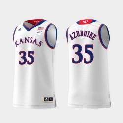 Men Kansas Jayhawks Udoka Azubuike White Replica College Basketball Jersey