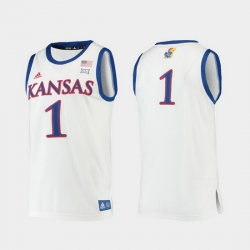 Men Kansas Jayhawks White Replica College Basketball Jersey
