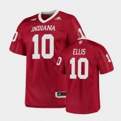 Men Indiana Hoosiers David Ellis College Football Crimson Game Jersey