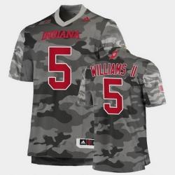 Men Indiana Hoosiers Dexter Williams Ii College Football Gray Salute To Service Jersey
