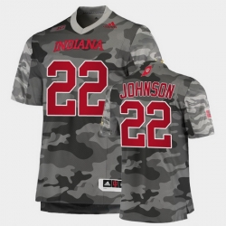 Men Indiana Hoosiers Jamar Johnson College Football Gray Salute To Service Jersey