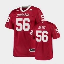Men Indiana Hoosiers Mike Katic College Football Crimson Game Jersey
