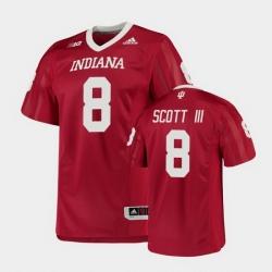 Men Indiana Hoosiers Stevie Scott Iii College Football Crimson Game Jersey