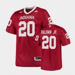 Men Indiana Hoosiers Tim Baldwin Jr. College Football Crimson Game Jersey