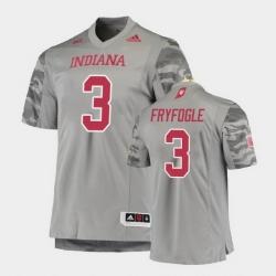 Men Indiana Hoosiers Ty Fryfogle Premier Gray Football Jersey