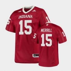 Men Indiana Hoosiers Zack Merrill College Football Crimson Game Jersey