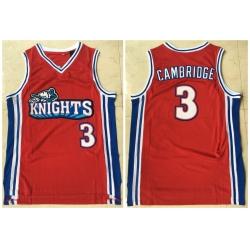 Men Los Angeles Knights 3 Calvin Cambridge Red Movie Basketball Jersey
