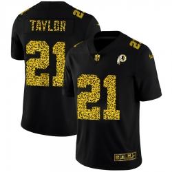 Washington Redskins 21 Sean Taylor Men Nike Leopard Print Fashion Vapor Limited NFL Jersey Black