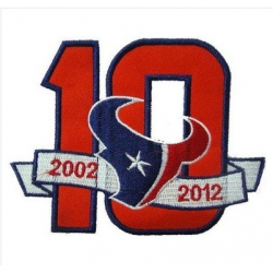 Stitched Houston Texans 10th Anniversary Jersey Patch