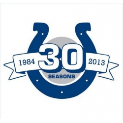 Stitched Indianapolis Colts 30th Anniversary Jersey Patch