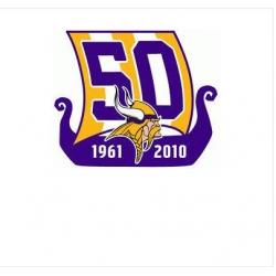 Stitched Minnesota Vikings 50th Anniversary Jersey Patch