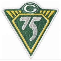 Stitched NFL Green Bay Packers 75th Jersey Patch