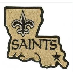 Stitched New Orleans Saints Louisiana State Logo Jersey Patch