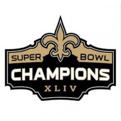 Stitched New Orleans Saints Super Bowl XLIV Jersey Patch