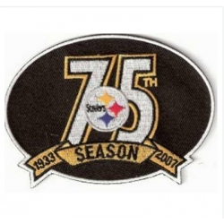 Stitched Pittsburgh Steelers 75th Anniversary Jersey Patch