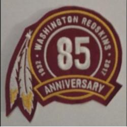 Washionton Redskins 85th Anniversary Patch