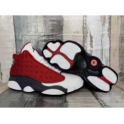Men Jordan 13 3M Classic Red White Shoes
