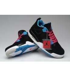 Air Jordan 4 Men Shoes Black Skyblue