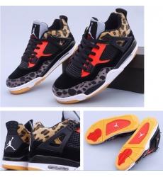 Air Jordan 4 Retro Leopard Print Men Basketball Shoes
