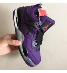 Air Jordan 4 Retro Men Purple Shoes