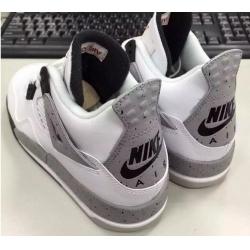 """Men  2016 Nike Air Jordan 4 OG """"White Cement"""" Shoes"""