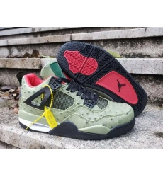 Men Air Jordan 4 Retro Men Shoes Ostrich Strips Green
