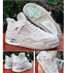Men Air Jordan 4 Retro X off 2020 Shoes All White