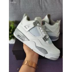 Men Jordan 4 Retro Orio White Shoes