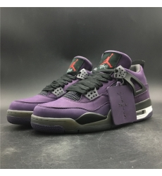 Nike Air Jordan 4 Purple Joint Limited Edition Men Shoes
