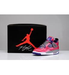 Air Jordan 4 Shoes 2013 Womens Pink Purple Grey