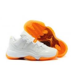 2015 Air Jordan Retro 11 Low GS White Citrus Women Shoes