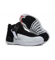 Air Jordan 12 Shoes 2014 Womens Black White