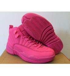 Air Jordan 12 Women Shoes Full Pink
