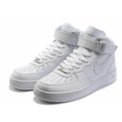 Nike Air Force 1 One White Women Shoes High Top