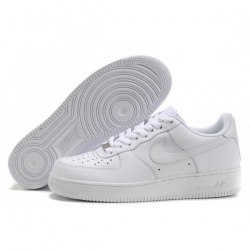 Nike Air Force 1 One White Women Shoes Low Top