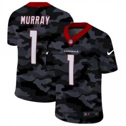 Arizona Cardinals 1 Kyler Murray Men Nike 2020 Black CAMO Vapor Untouchable Limited Stitched NFL Jersey