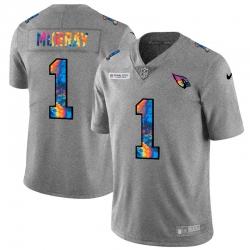 Arizona Cardinals 1 Kyler Murray Men Nike Multi Color 2020 NFL Crucial Catch NFL Jersey Greyheather