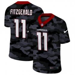 Arizona Cardinals 11 Larry Fitzgerald Men Nike 2020 Black CAMO Vapor Untouchable Limited Stitched NFL Jersey