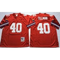 Men Arizona Cardinals 40 Pat Tillman Red M&N Throwback Jersey