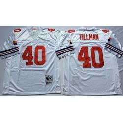 Men Arizona Cardinals 40 Pat Tillman White M&N Throwback Jersey
