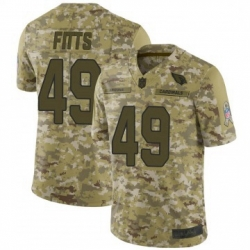 Men Nike Arizona Cardinals 49 Kylie Fitts Limited 2018 Salute To Sercie Vapor Untouchable Jersey
