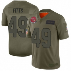 Men Nike Arizona Cardinals 49 Kylie Fitts Limited 2019 Salute To Sercie Vapor Untouchable Jersey