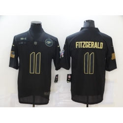 Nike Arizona Cardinals 11 Larry Fitzgerald Black 2020 Salute To Service Limited Jersey