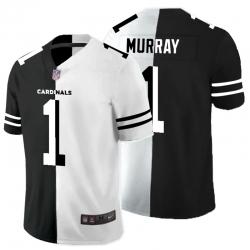 Nike Cardinals 1 Kyler Murray Black And White Split Vapor Untouchable Limited Jersey