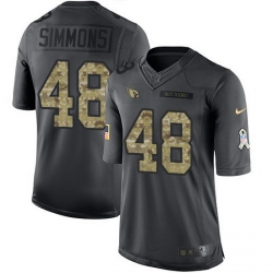 Nike Cardinals 48 Isaiah Simmons Black Men Stitched NFL Limited 2016 Salute to Service Jersey