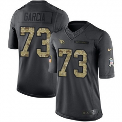 Nike Cardinals 73 Max Garcia Black Men Stitched NFL Limited 2016 Salute to Service Jersey