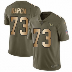 Nike Cardinals 73 Max Garcia Olive Gold Men Stitched NFL Limited 2017 Salute To Service Jersey