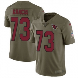 Nike Cardinals 73 Max Garcia Olive Men Stitched NFL Limited 2017 Salute To Service Jersey